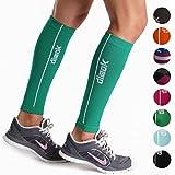 dimok Calf Compression Sleeve Pair - Leg Compression Socks for Calves Running Women Men - Best for Shin Splint Muscle Pain Better Circulation