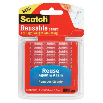 Scotch Restickable Mounting Tabs, 6/Pack [Set of 2] ()