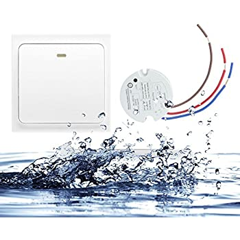 Crelander Wireless Light Switch Kit No Wiring No Battery