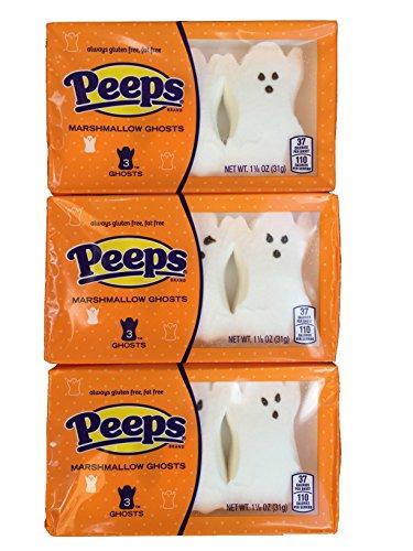 Peeps Halloween Spooky Ghost Peeps 3 Count Package ( 3 Packs -