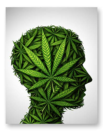 Pot Head Poster Print - Marijuana Cannabis Wall Art Decor