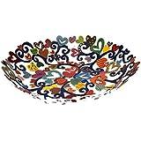 Fruit Bowl Serving Salad Centerpiece - Yair Emanuel LARGE BOWL LASER CUT HAND PAINTING HEARTS (Bundle)