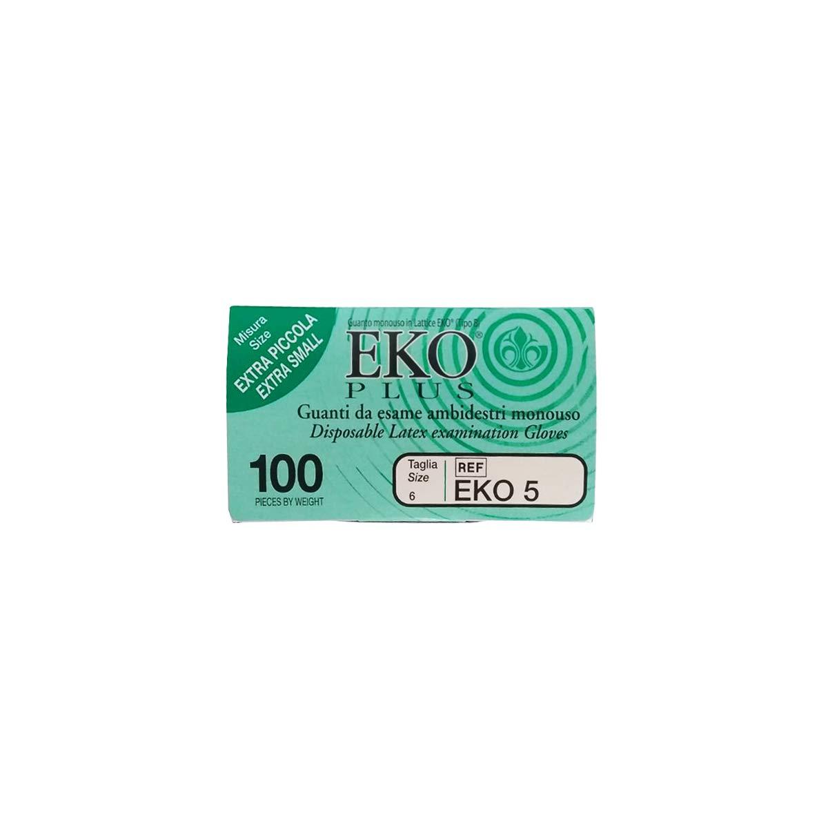 NGL00CP.W1XS Confezione da 100pz Guanti Monouso Lattice Con Polvere Taglia XS