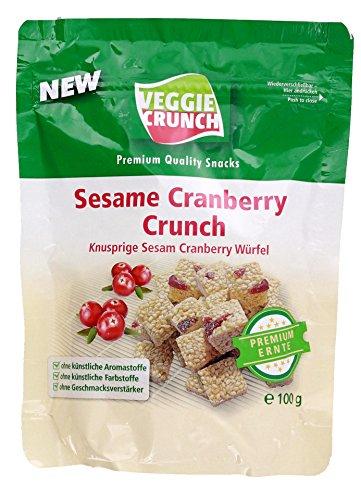 VeggieCrunch Snack Sesam Cranberry Würfel 100 g