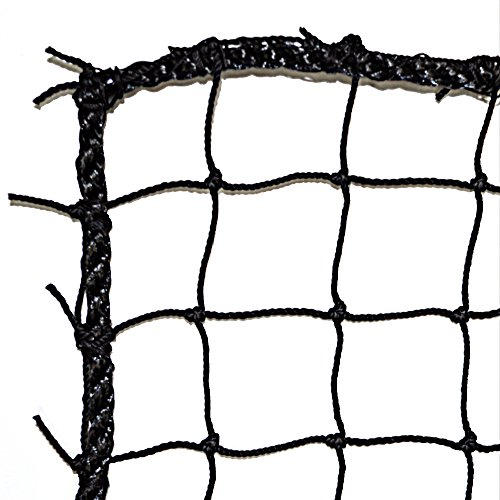 Just For Nets #36 Twisted Knotted Nylon Baseball Backstop Net, 10' x 10' - Baseball Backstop Netting