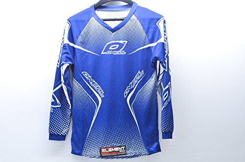 NEW ONEAL MOTOCROSS/RACING ELEMENT YOUTH MOTOCROSS JERSEY, BLUE/WHITE, LARGE/LG