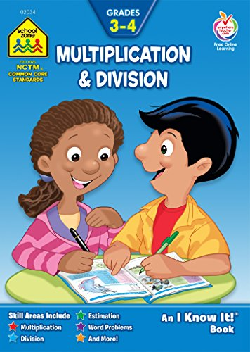 Multiplication & Division 3-4 from School Zone, Ages 8-10, helps build a solid math foundation for third and fourth graders (Grades 3-4)