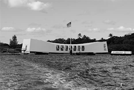 USS ARIZONA MEMORIAL GLOSSY POSTER PICTURE PHOTO pearl harbor attack ship 2242