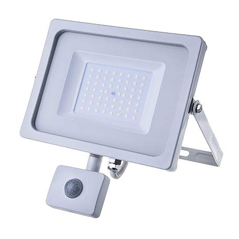 Foco LED 50 W 4250Lm 100 ° V-TAC aluminio Ultra Fina Slim Blanco Sensor
