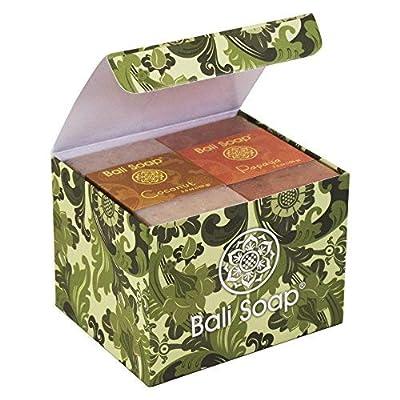 Bali Soap - Natural Soap Bar Gift Set, Face Soap or Body Soap, 6 pc Variety Soap Pack (Coconut, Papaya, Vanilla, Lemongrass, Jasmine, Ylang-Ylang) 3.5 Oz each