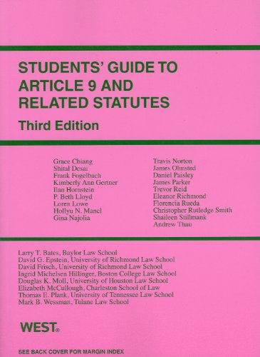 Students' Guide to Article 9 and Related Statutes, 3d (Student Guides)