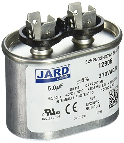 MARS - Motors & Armatures 12905 370V Oval 5 Micro-Farads Motor Run Capacitor