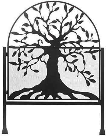 Puerta de jardín de metal con diseño de árbol de la vida, 36 L x 1 ...