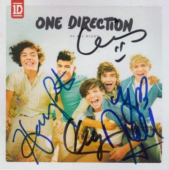 one direction autograph cd - 5