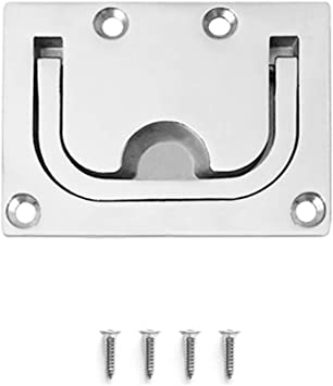 """2/"""" Round Marine Boat Pull Hatch Flush Lift Ring Handle Stainless Steel Hardware"""