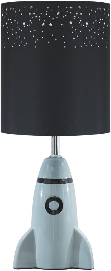 Amazon Com Signature Design By Ashley Cale Table Lamp Children S Lamp Rocket Base Gray Home Improvement
