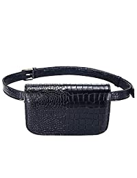 Badiya Fashion Women Mini PU Leather Waist Packs Outdoor Travel Belt Bag