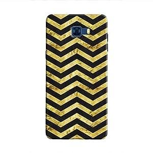 Cover It Up - Gold Black Tri Stripes Galaxy C7 Pro Hard case