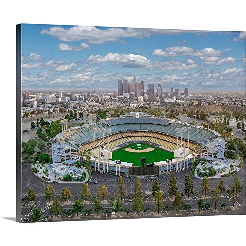 La Dodgers Stadium - Copterpilot Photography Premium Thick-Wrap Canvas Wall Art Print entitled Los Angeles Dodger Stadium 20