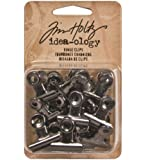 Tim Holtz Idea-ology TH92692 Metal Hinge Clips, 1-Inch, Pack of 15, Antique Nickel Finish