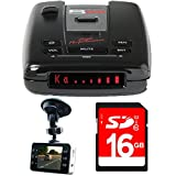 Escort Passport S55 High Performance Radar and Laser Detector with DSP with Bundle Includes, Xtreme Automotive HD DVR IR Night Vision HD Dash Camera w/ 2.4' LCD & 16GB SDHC High Speed Memory Card