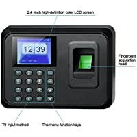 divinezon ABS USB Biometric Fingerprint Attendance Machine Password Time Recorder Clocking Employee Checking-in Reader (190 x 139 x 43 mm, Black)