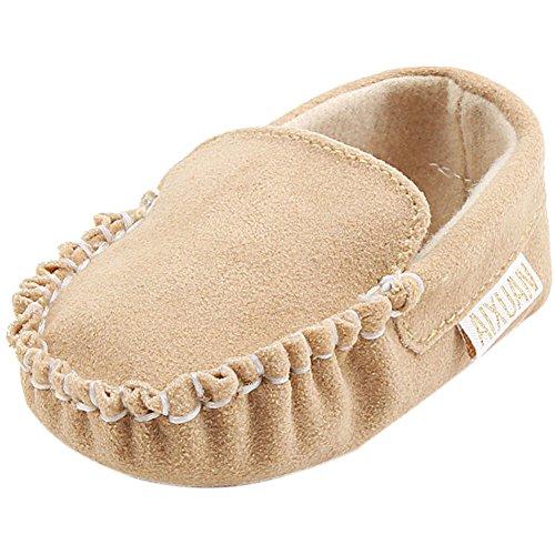 Fire Frog Baby Boat Loafer Shoes - Zapatos primeros pasos para niño caqui