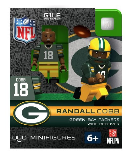 Randall Cobb NFL Oyo Mini Figure Lego compatibles Packers de Green Bay