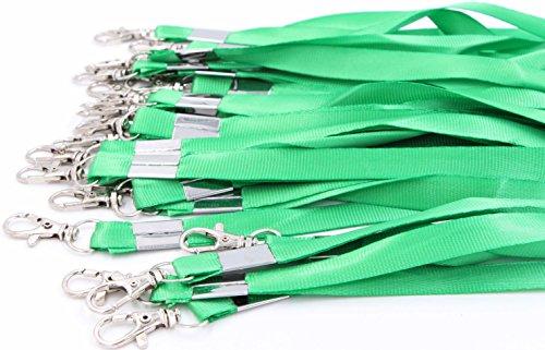 Neck Lanyards for Id Badges - LeBeila Id Badge Lanyard Bulk Order 30pcs Nylon Neck Strap for Badges, ID Holder & Cards (30pcs, Green) -