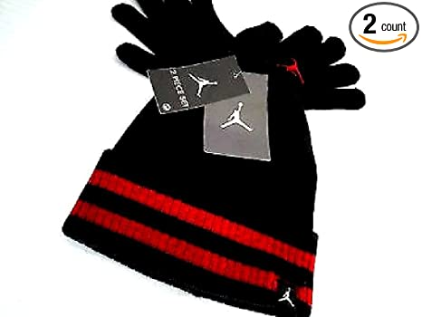 0a050d6dca0 Image Unavailable. Image not available for. Color  Nike Jordan Boys Winter Hat  Beanie Cap Gloves Set Size   Youth 8 20