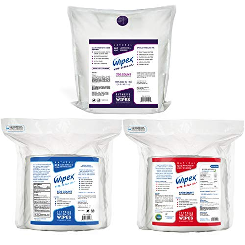 Wipex Gym & Fitness Wipes Refill Pack, 700 Large Natural Wipes Infused with Vinegar & Lavender (4) by Wipex (Image #7)