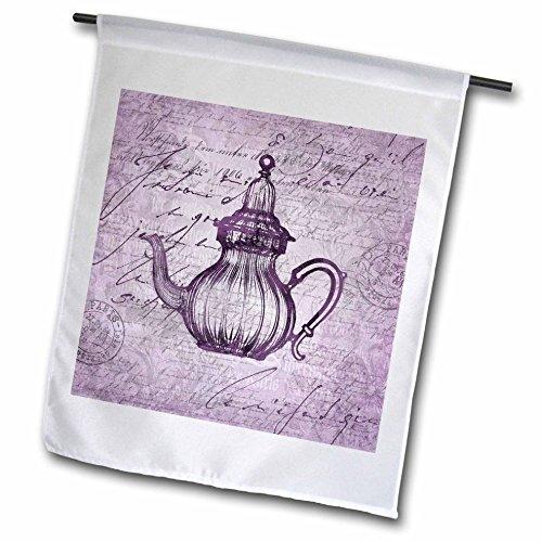Art Carafe (3dRose Andrea Haase Art Illustration - Nostalgic Carafe Illustration In Pastel Faded Purple - 12 x 18 inch Garden Flag (fl_276288_1))