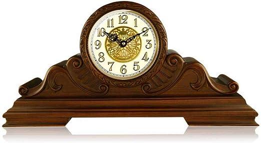 XUEXIONGSP Reloj de Mesa, Europeo Decorativo Retro Mesa de Madera ...