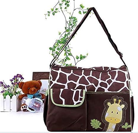 SANDIN Sacs /à Langer Sacs /à Couches Multifonctionnel pour Maman Motif de Girafe