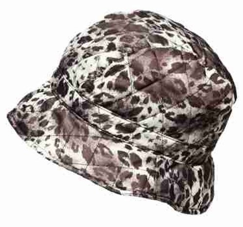 i-Smalls Ladies Quilted Printed Shower Rain Hat animal print