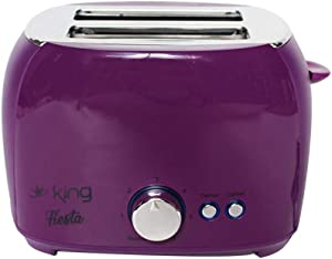 PIKAqiu33 2 Slice Extra Wide Slot Stainless Steel Toaster Keep Warm Defrost Slot Toaster, Small Appliances, Home & Garden (Purple)