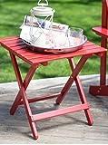 Coral Coast Pleasant Bay Acacia Adirondack Table - Red
