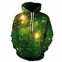 Besties Shop Unisex 3D Space Galaxy Pullover Hoodie Hooded Sweatshirt With Hat
