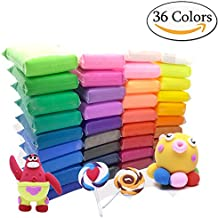 Szsrcywd 36 PCS Colorful Kids Modeling Soft Clay Air Dry Clay Studio Toy 36 Bright Color No-Toxic Modeling Clay Creative DIY Crafts