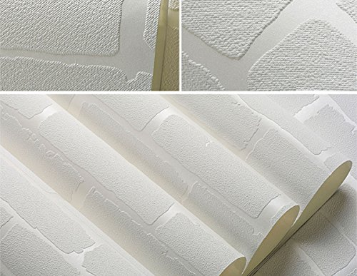 F Amp U Removable Peel And Stick 3d White Brick Wallpaper