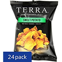 TERRA Sweet Potato Chips, No Salt Added, 1.2 oz. (Pack of 24)