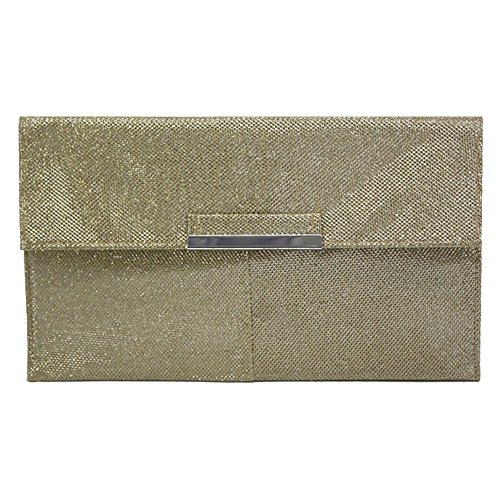 Fold Ladies Over Bag Clutch Women Gold Envelope Brown Shoulder Cross Wiwsi Purse Body Chain awtq511E