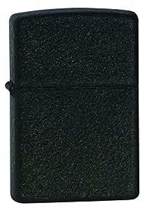 Zippo Pocket Lighter, Black Crackle
