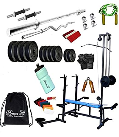 534b51b869 DREAMFIT 50 KG Home Gym with 20 in 1 Bench