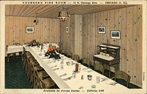 Younkers Pine Room   51 E Chicago Avenue Chicago  Illinois Original Vintage Postcard