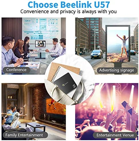Beelink U57 Intel Core i5-5257u Processor (up to 3.1 GHz) 8GB RAM 256GB SSD, Mini pc Windows 10 pro Computer, Dual HDMI USB 3.0 Port, Dual Band WiFi/Gigabit Ethernet/BT 4.2 Support Auto Power On