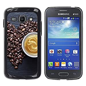 FU-Orionis Colorful Printed Hard Protective Back Case Cover Shell Skin for Samsung Galaxy Ace 3 - Coffee Beans Love