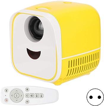 Opinión sobre Socobeta Mini proyector portátil L1 2000 LM Resolución 480x320P Altavoz estéreo Portátil Home Cinema Amarillo(EU Plug)