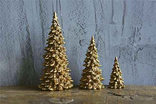 Christmas Village Trees Resin Evergreen