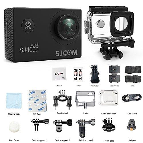 Action Camera SJCAM SJ4000 WIFI FHD1080P waterproof Underwater Camera 12MP Sports Camcorder 2.0 LCD Screen Display -Black by SJCAM (Image #6)